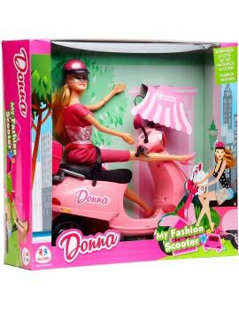 Bambola Fashion con Scooter