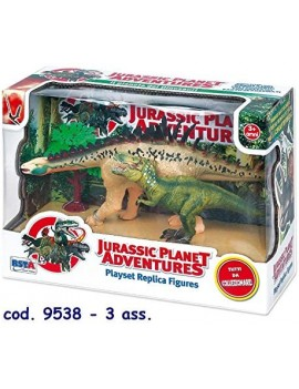 Playset Kit con 2 dinosauri